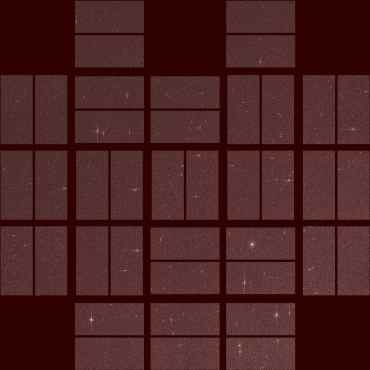 This image by NASA's Kepler spacecraft shows the telescope's full field of view taken in a new demonstration mode in late October. Credit: NASA Ames