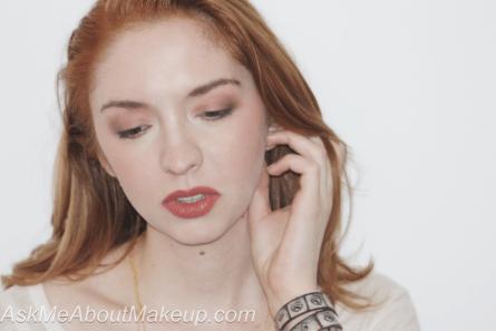 Kat Von D Lolita II on the cheeks, lips and eyes