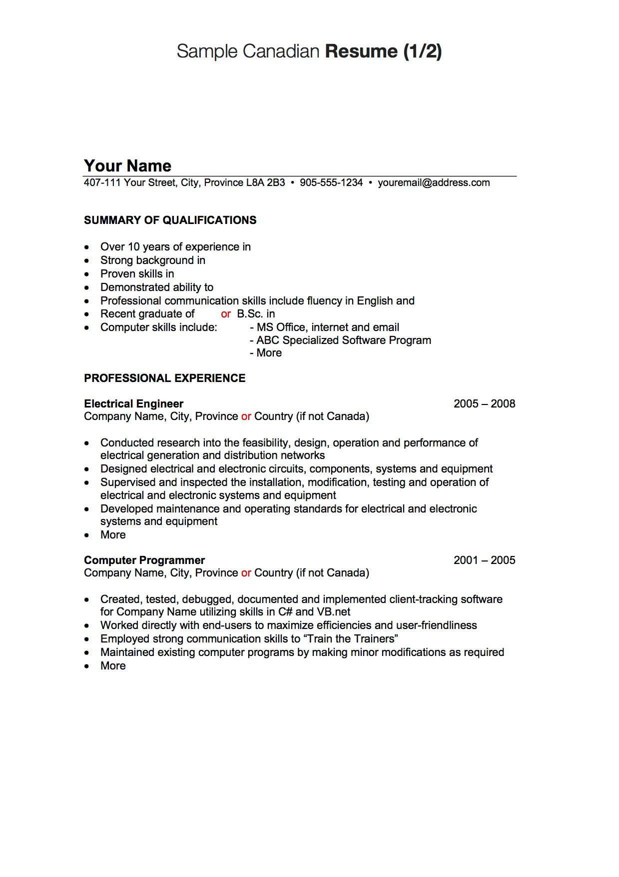 Canadian resume writing companies