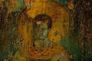 Фреска православного монаха