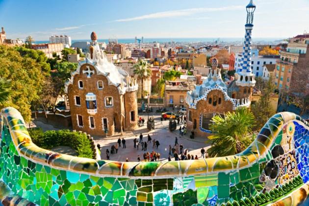 Парк Гуэля - самая фотографируемая достопримечательность Барселоны