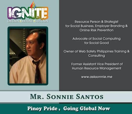 Sonnie Santos- Sought After Speaker