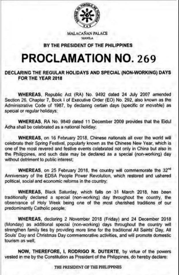 Proclamation 269 p2