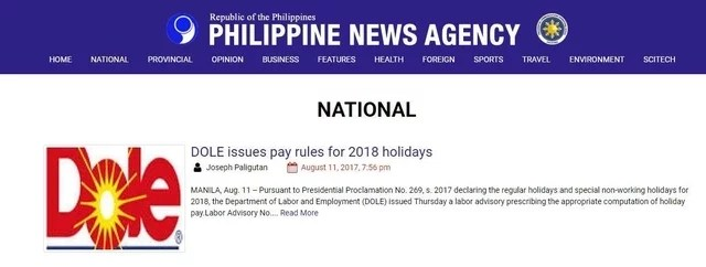 Unsolicited Advice to Philippine News Agency