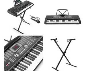 Hamzer 61-Key Portable Electronic Keyboard Piano with Stand, Stool, Headphones & Microphone Review