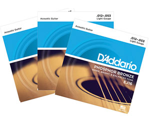 D'Addario Limited Edition Tin - 4 Sets of EJ16 Acoustic Guitar Strings with Micro Headstock Tuner Review