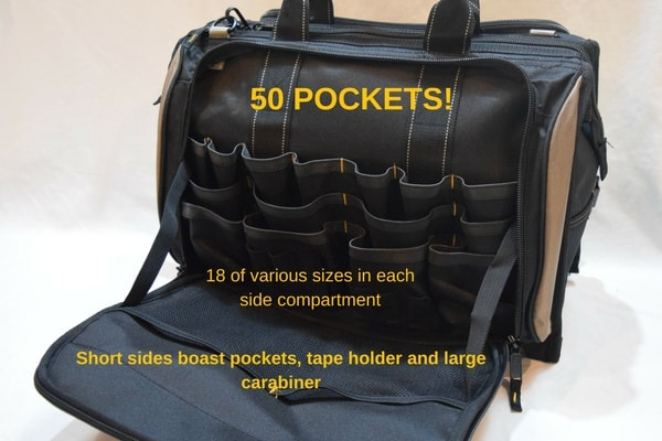 Best Electrician Tool Bag 50 pockets