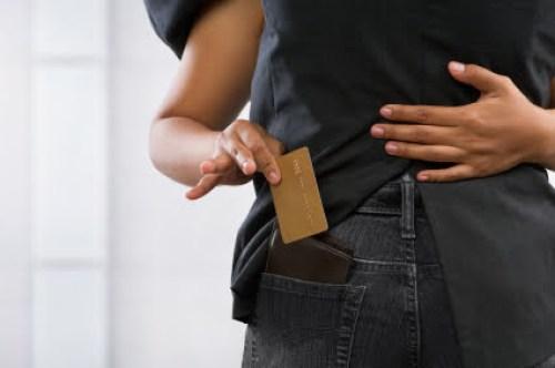 Pickpocket credit card