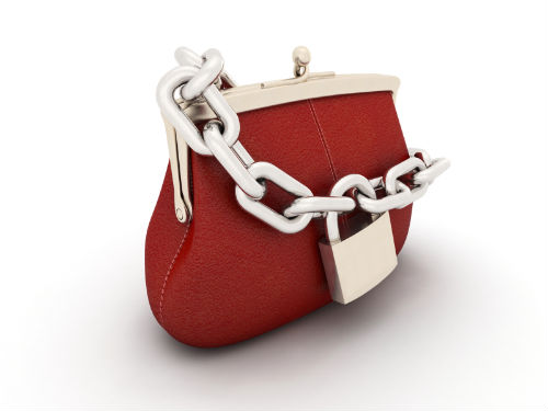 Closed purse