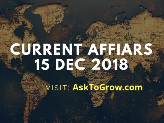 Current Affairs 15 Dec 20181