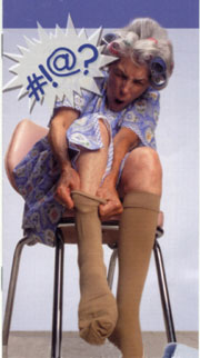 Your day does not have to start with struggling to put on your support stockings
