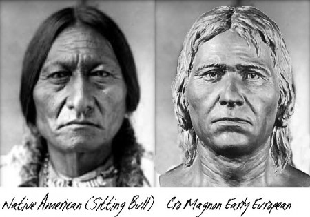 Native American and a Cro Magnon European
