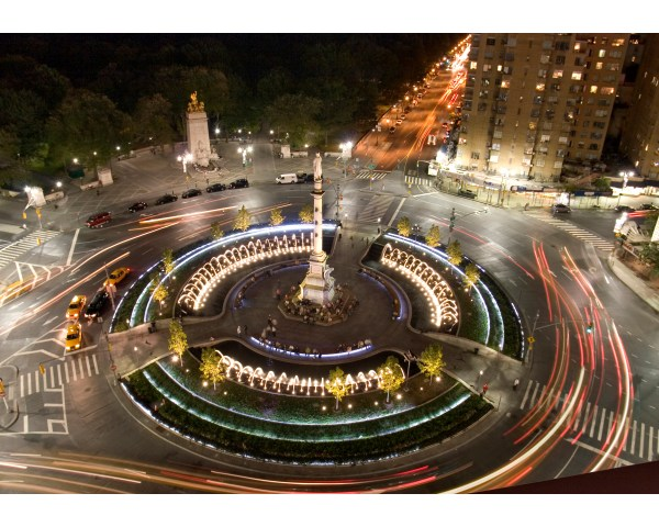 Place In York City Columbus Circle