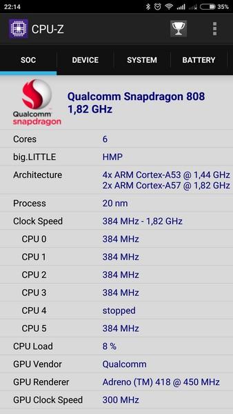 Xiaomi Mi4c - CPU-Z 1