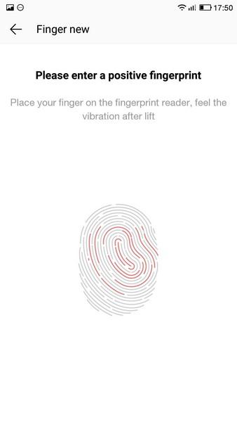 LeTV Le 1s - Finger settings 2
