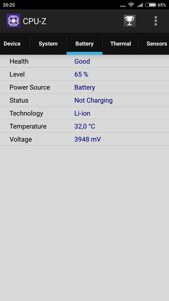 Xiaomi Redmi Note 3 - CPU-Z 4