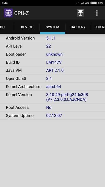 Xiaomi Mi4s - CPU-Z 3