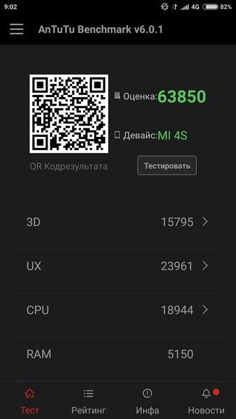 Xiaomi Mi4s - AnTuTu 1