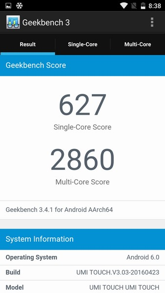 Umi Touch Review - Geekbench