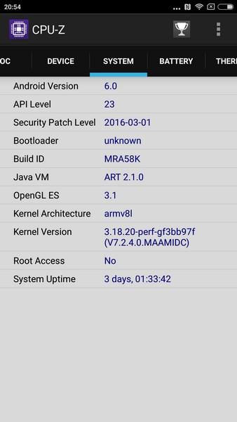 Xiaomi Mi5 - CPU-Z 3