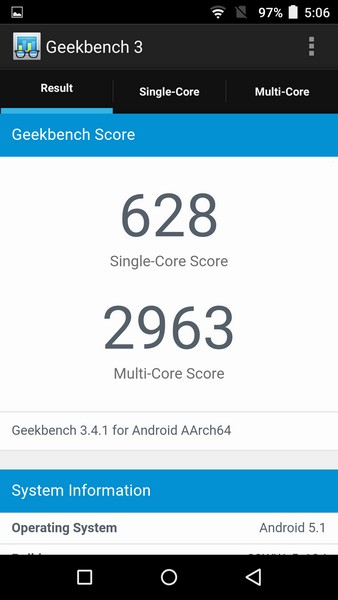 InFocus M560 Review - Geekbench 3