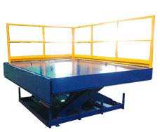 tables élévatrices à ciseaux élévatrice avec balustrades
