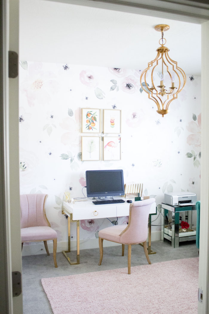 My Dream Girly Office Makeover So Much Pink And So Bright And Airy