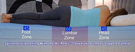 Air-Pedic 6 zone Lumbar support