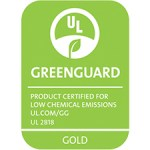 Greenguard logo, Product is certified for low chemical emissions