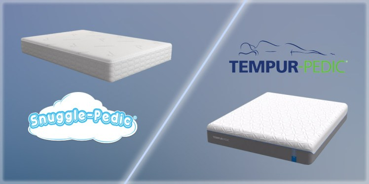 Snuggle-Pedic vs. Tempur-Pedic mattress comparison