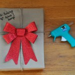 An Easy Way To Wrap a Gift: Use Hot Glue!