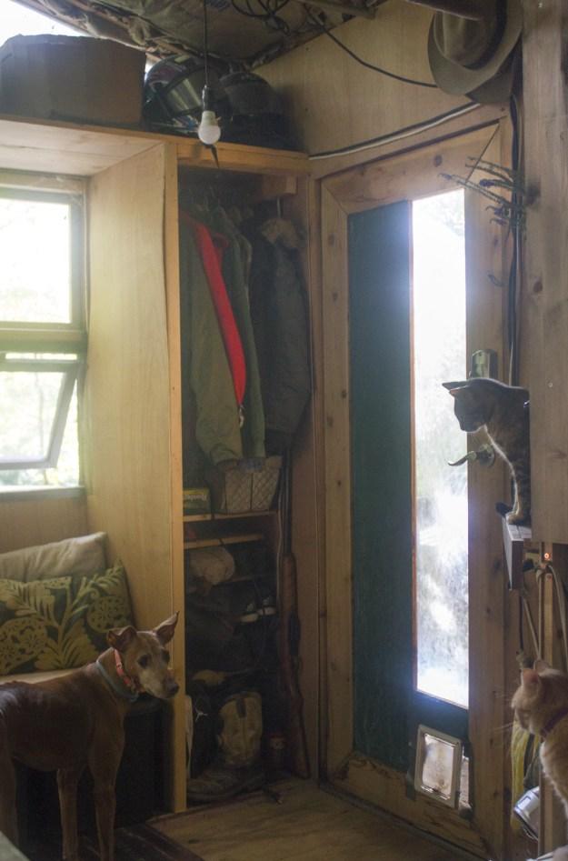 Entryway of a tiny house | asmalllife.com