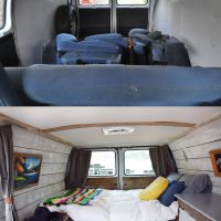 Camper Van Before and After Remodel