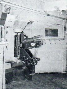 Canon de 7,5 1903 sur affût de casemate à collier cylindrique
