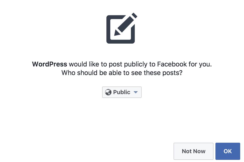 Cấu hình jetpack với facebook
