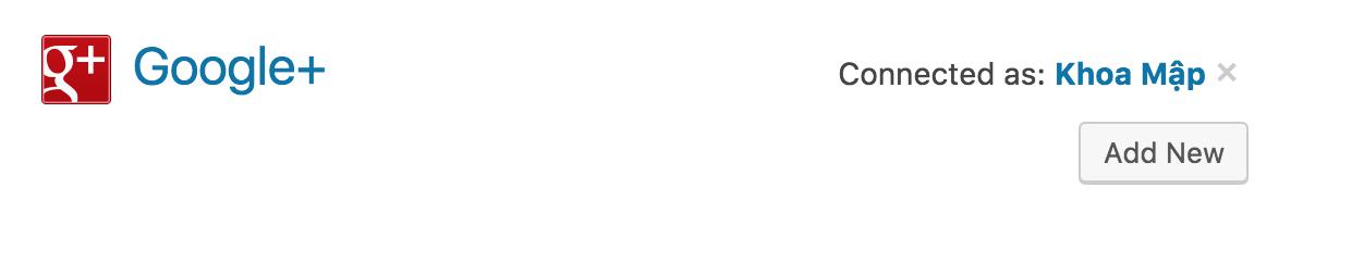 Kết nối với JetPack với Google+
