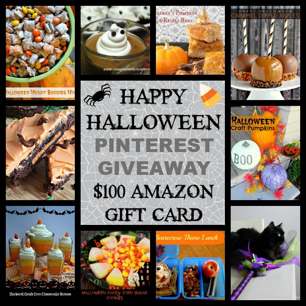 Happy Halloween Giveaway $100 Gift Card ends October 30th