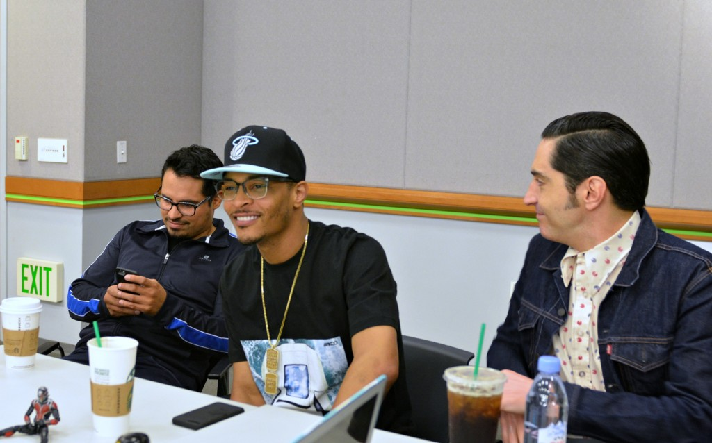 T.I., Michael Peña and David Dastmalchian of Ant-Man