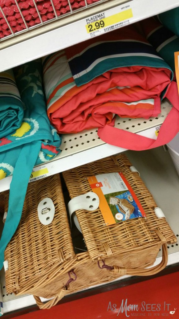 Picnic blankets and supplies at Target