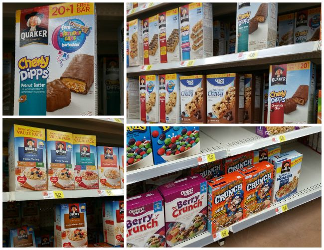 Quaker products at Walmart