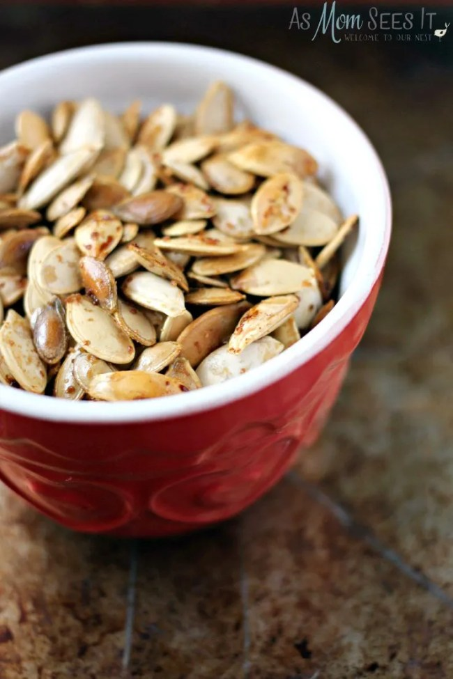 Maple Sugar Roasted Pumpkin Seeds