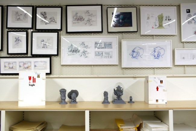 Pixar Studios Archives Gallery Wall