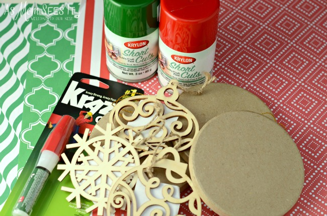 Supplies for the 3D ornaments