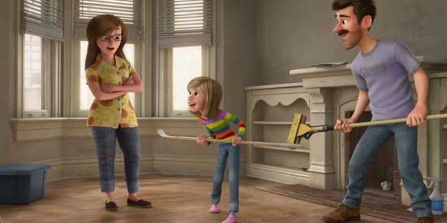Kyle MacLachlan and Kaitlyn Dias in Disney/Pixar's Inside Out