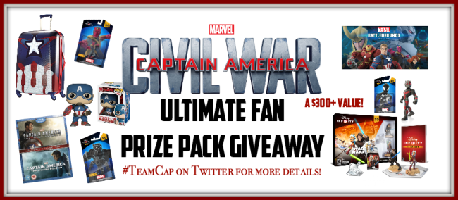 Captain America Civil War Ultimate Fan Prize Pack Giveaway