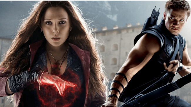 Elizabeth Olsen and Jeremy Renner reprise their roles as superheroes in Captain America: Civil War