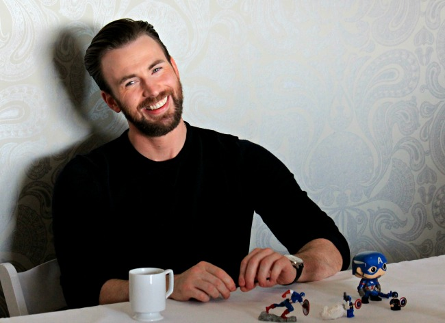 The adorable Chris Evans as the strong and charming Captain America