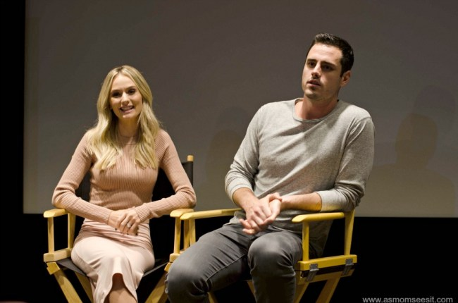 Stars of The Bachelor, Ben Higgins and his fiancee, Lauren Bushnell, talk about life in front of the camera
