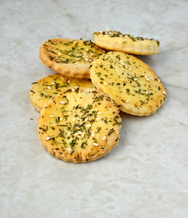 Seasoned pie crust crackers are easy to make and light, crispy and delicious.