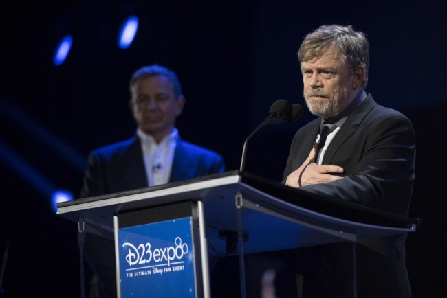 Mark Hamill during his acceptance for his 2017 Disney Legends award